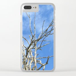 tree on the blue sky Clear iPhone Case