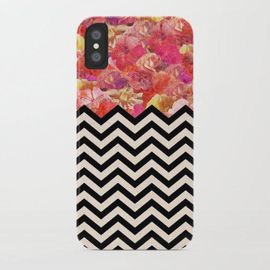 Chevron Flora iPhone Case