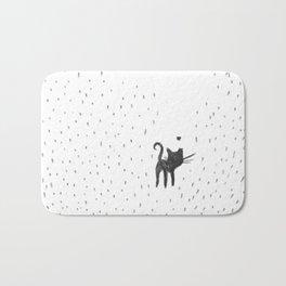 Loving in the rain Bath Mat