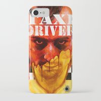 taxi driver iPhone & iPod Cases featuring Taxi Driver by ChrisNygaard