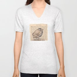 Ralph Waldo Emerson Bird Unisex V-Neck