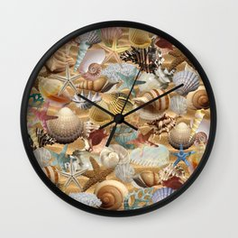 Sea Shell Mania Wall Clock