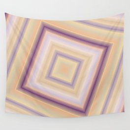 rotated square caro in pastel colors Wall Tapestry