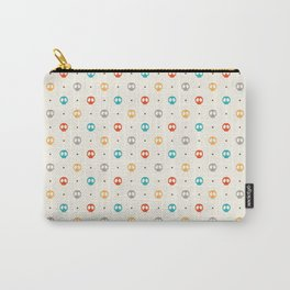 Pattern Skulls Color Carry-All Pouch