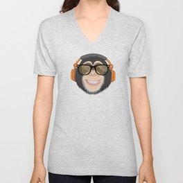 Monkey DJ Unisex V-Neck