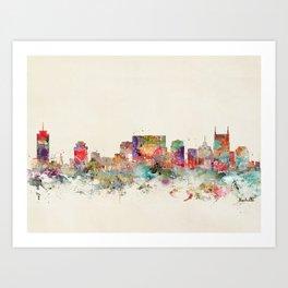 city nashville tennessee Art Print