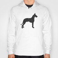 great dane Hoodies featuring Dog III - Great Dane by Alisa Galitsyna