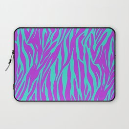 Purple and Green Zebra print Laptop Sleeve
