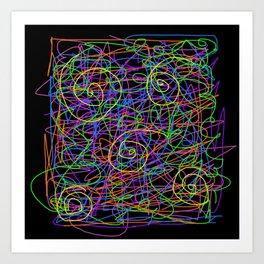 Neon Strings Art Print