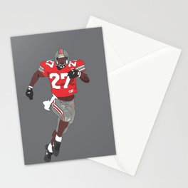 Ohio State Buckeyes - Eddie George (1995) (Vector Art) Stationery Cards