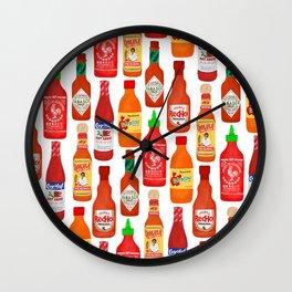 Hot Sauces Wall Clock