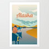 alaska Art Prints featuring Alaska by Shirong Gao