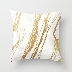 Gold Marble 2 Throw Pillow