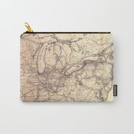 New York Central & Hudson River Railroad Map (1900) Carry-All Pouch