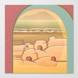 Beached Labyrinth Canvas Print