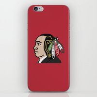 blackhawks iPhone & iPod Skins featuring Al Capone Blackhawk by beejammerican