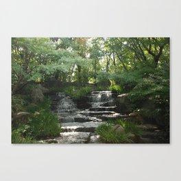Waterfall at Kokoen Garden in Himeji Canvas Print