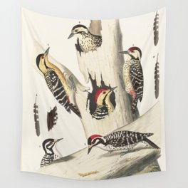 Naturalist Woodpeckers Wall Tapestry