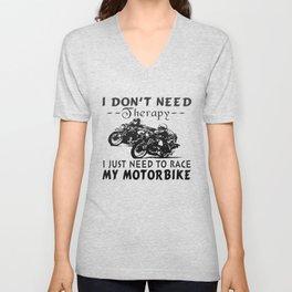 RACE MY MOTORBIKE Unisex V-Neck