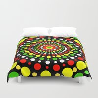 rasta Duvet Covers featuring Rasta by Liqrush
