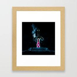 zelda sword Framed Art Print