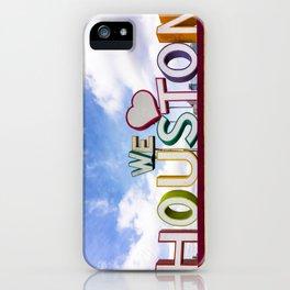 We Heart (Love) Houston iPhone Case