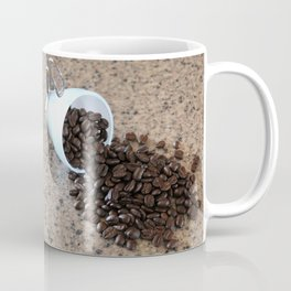 Spilled Coffee Beans Coffee Mug