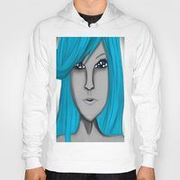 no face Hoodies featuring Face by LCMedia