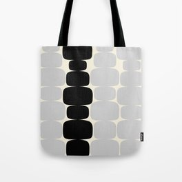 Abstraction_Balance_ROCKS_BLACK_WHITE_Minimalism_001 Tote Bag