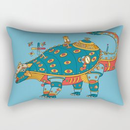 Dinosaur, cool wall art for kids and adults alike Rectangular Pillow