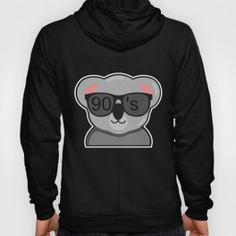 90s Party Theme Funny Animal Koala Gift Hoody