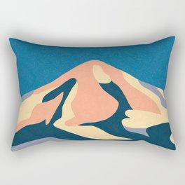Over The Sunset Mountains Rectangular Pillow