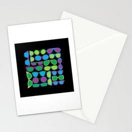 Sunglasses Pattern in Cool Colors Stationery Cards