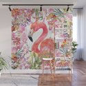 Flamingo in Tropical Flower Jungle by betterhome