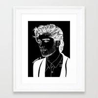 zayn Framed Art Prints featuring Zayn by andjustlove