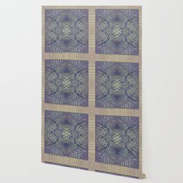 SYMMETRICAL PASTEL PURPLE BRACKEN FERN MANDALA Wallpaper