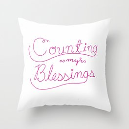 Counting Blessings Throw Pillow