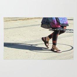 Dancing (Hula Hoop Series) Rug