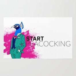 Start Peacocking Rug
