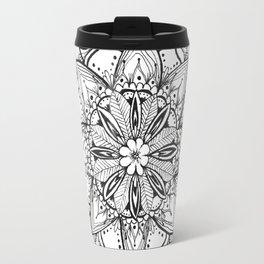 Tropical Floral Mandala Travel Mug