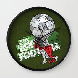 the god of football Wall Clock