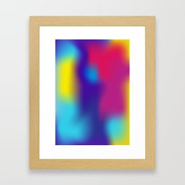 soft gradient Framed Art Print