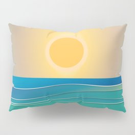 The sun comes and goes but the waves remain Pillow Sham