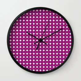 Flowers (Aloha), in yellow Wall Clock