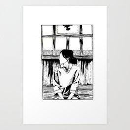 Girl In a Box - Serenity Art Print