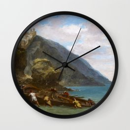 Eugene Delacroix - View Of Tangier From The Seashore - Digital Remastered Edition Wall Clock