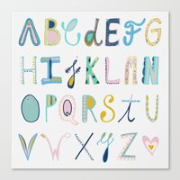 alphabet Canvas Prints featuring Alphabet by Anto Del Vecchio