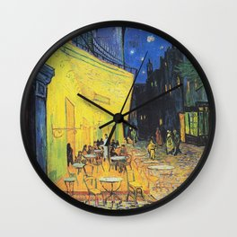 Café Terrace at Night by Vincent van Gogh Wall Clock