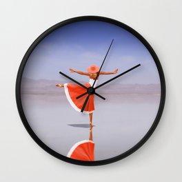 Ballerina Dancing On The Beach Wall Clock