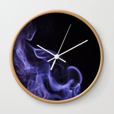 veil of smoke Wall Clock